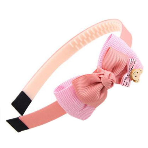 Girls Sweet Hairband Hair Band Accessories Hairdressing With Bow-knot, Pink
