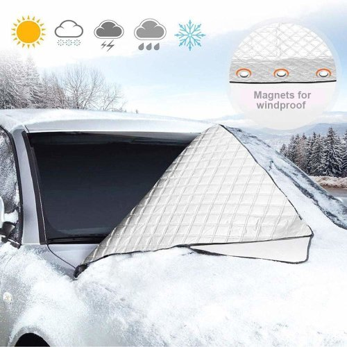 Car Windshield Snow Cover,Heavy Duty Ultra Thick Protective Windscreen with Wing Mirror Cover