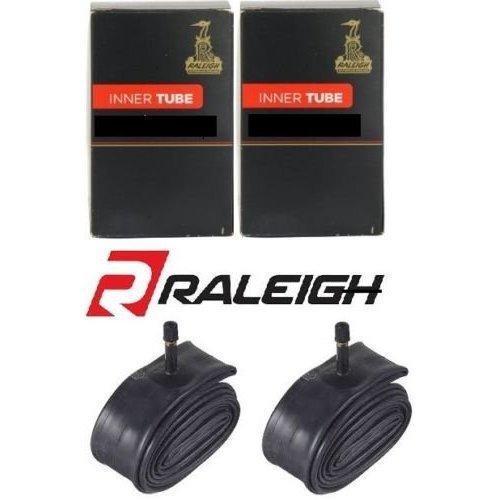 "Raleigh 2 x Bike Inner Tubes 26"" Mountain Bike 26 x 1.75-2.125 - Schrader Car Type Valves"
