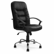Fleet High Back Leather Faced Executive Office Chair With Chrome Base by Eliza Tinsley 369ATG/L