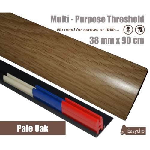 Pale Oak Multi Purpose Threshold Strip 38x90cm Adhesive Clip System