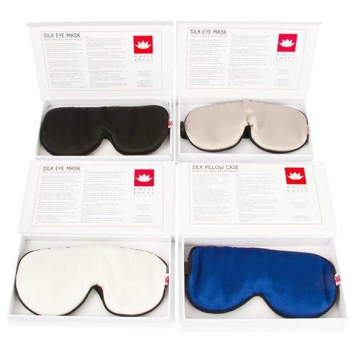 100% Mulberry Silk 19 Momme - Silk eye mask for sleeping Reducing Wrinkles