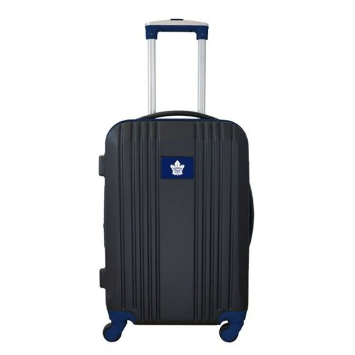 Mojo Licensing NHMLL208-NAVY 21 in. NHL Toronto Maple Leafs Luggage Carry-on Hard Case Two-Tone Spinner 100 Percent ABS, Navy