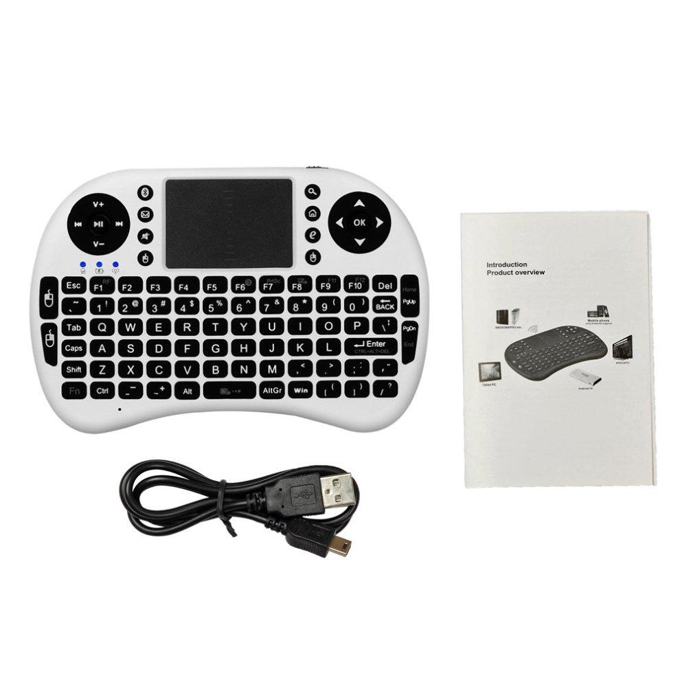 467892d67f7 ... ESYNIC Mini Wireless Keyboard 2.4G XBMC Keyboard Touchpad Mouse  Combo-White - 1 ...