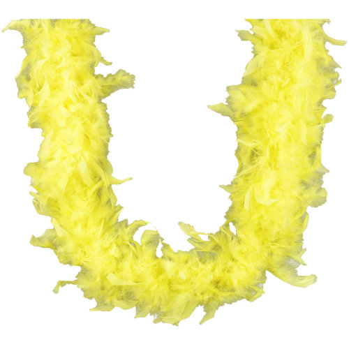 "Midwest Design Chandelle Feather Boa 72""-Yellow"