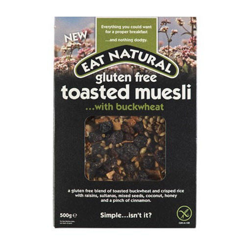 Eat Natural Gluten Free Toasted Muesli ....with Buckwheat 500g