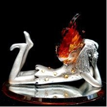 Crystal and Metal Dreaming Fairy Ornament