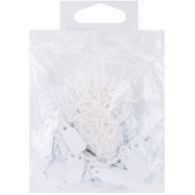"""Small Jewelry Hang Tags .25""""X.75"""" 200/Pkg-White"""