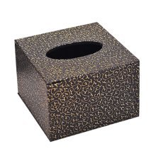 Continental Stylish Leather Tissue Boxes Square Wood Tissue Box