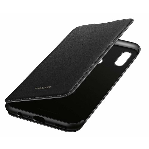 Official Huawei P Smart 2019 Flip Wallet Cover Case - Black - 51992830
