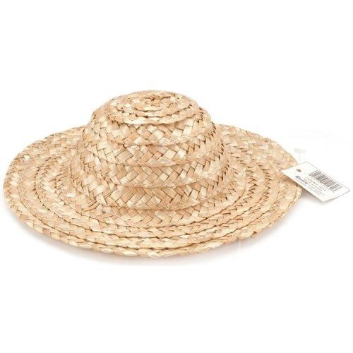 "Round Top Straw Hat 18""-Natural"