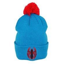 Spiderman Marvel Bobble Beanie Blue - New Official Hat Logo Ultimate -  new official spiderman hat beanie marvel logo bobble ultimate