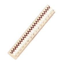 5 PCS Cute Cartoon Wood Material Student's Rulers Wave Style 15cm