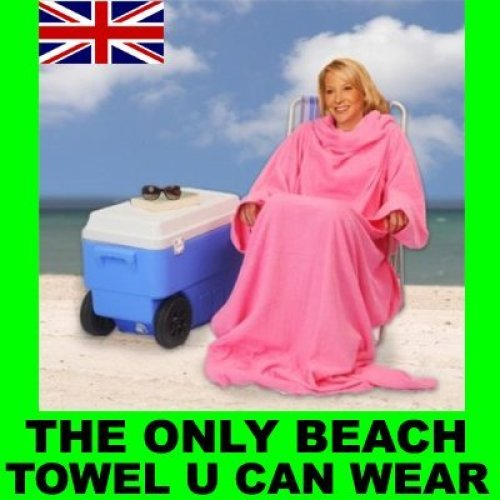 SNUGGLE SNUGGIE LARGE BIG BEACH TOWEL SUN PROTECTION [Blue]