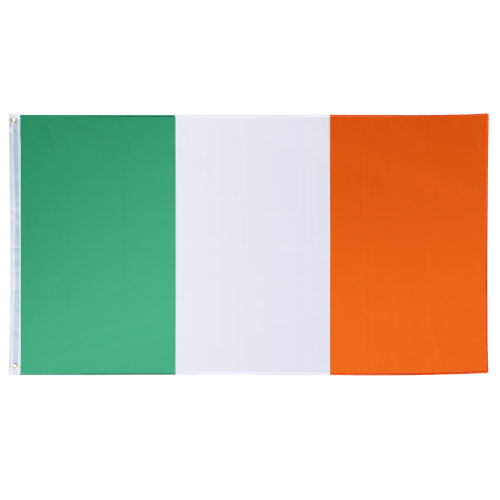 Large Irish National Flag 90 x 150cm with Rings Hanging Banner for Sporting Events and National Celebrations TRIXES
