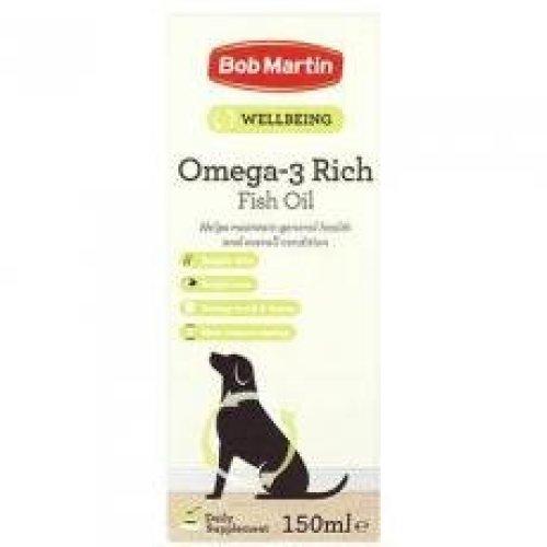 Bob Martin Omega 3 Fish Oil 150ml (Pack of 6)