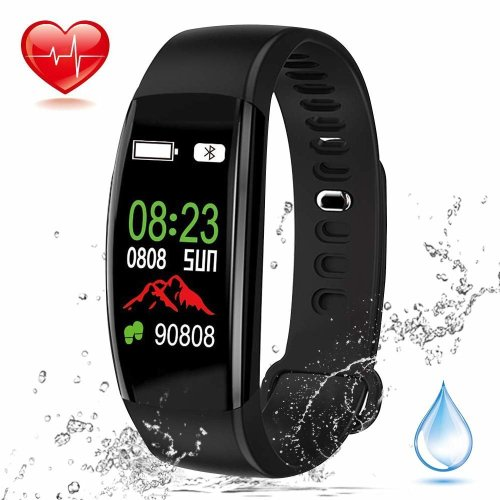 Fitness Tracker, Elec.BGS Waterproof IP68 Smart Bracelet Bluetooth Color Screen Smart Watch with Heart Rate Monitor Sleep Monitor Pedometer Calorie...