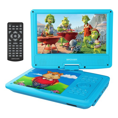 "DBPOWER 9"" Portable DVD Player for Kids, Swivel Screen (Blue)"