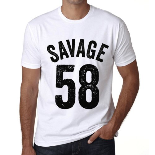 0a06155fe Mens Vintage Tee Shirt Graphic T shirt Savage 58 White on OnBuy