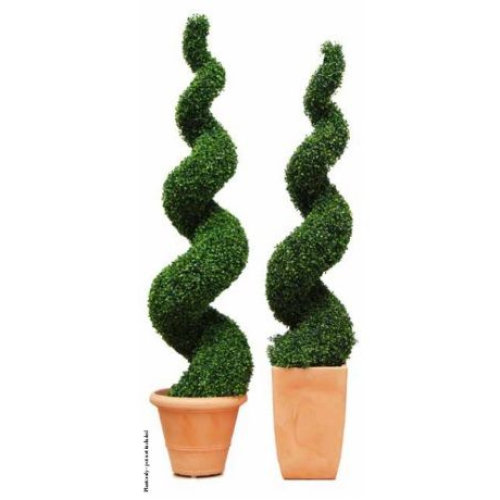 Artificial Boxwood Topiary Spiral Tree