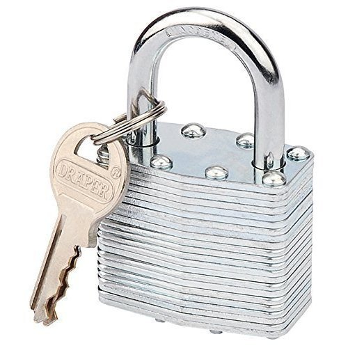 Laminated Steel Padlock 50mm - Draper 14021 -  draper 50mm laminated steel padlock 14021