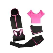 Yoga Suit, Women's 5 Piece Activewear Set, Sports Wear, Fitness Training Set XL