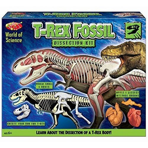 World Of Science T Rex Fossil Dissection Kit Make Your Own Dinosaur Set