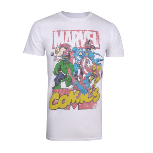 Marvel Call Out Mens T-shirt White