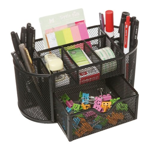 Tabletop Desktop Organiser Stationary Home Office Tidy Pen Pencil Holder Storage