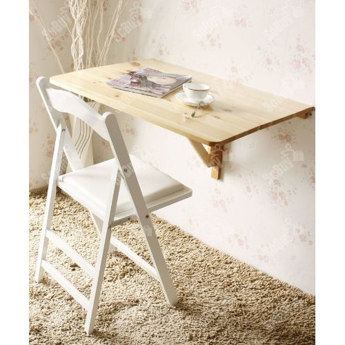 SoBuy® FWT02-N, Folding Wall Computer Desk Kitchen Dining Table, 80x60cm