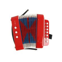 Musical Toy Cool Accordion Instrument for Kids Early Educational Toy(Red)