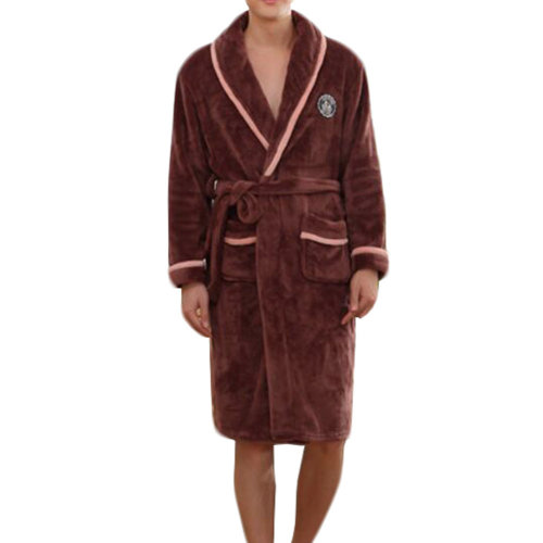 Casual Pajama Set Warm Sleepwear Men/Lovers Flannel Nightgown XX-large-A3