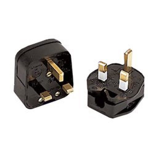 Defender 230v 13amp Black Rubberised Nylon Plug E882615