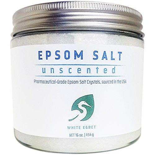 White Egret Pharmaceutical Grade Bath Epsom Salt 16 Ounce