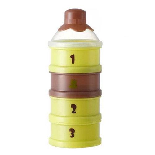 Baby Milk Powder Dispenser / Storage Container Four-Chamber Dispenser(Green)