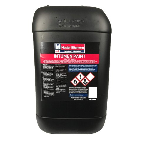 25L LITRE BLACK BITUMEN PAINT WATERPROOF WEATHERPROOF PAINT