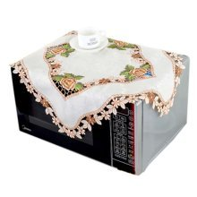 European Style Embroidered Microwave Oven Cover Microwave Protector, G