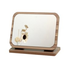 """Home Decor Wooden Mirror Single-sided Vanity Mirror Tabletop Makeup Mirror 9.09""""x 3.93""""x 6.81"""""""