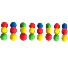 E-Deals 70mm Soft Tennis Balls - Pack of 24 Assorted Colours