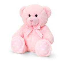 Keel Toys 25cm Baby Spotty Bear - Pink -  keel toys 25cm baby spotty bear pink
