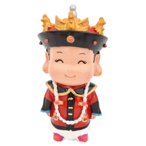 Chinese Style Queen Clay Figurine Doll  Folk Art Toys Dolls