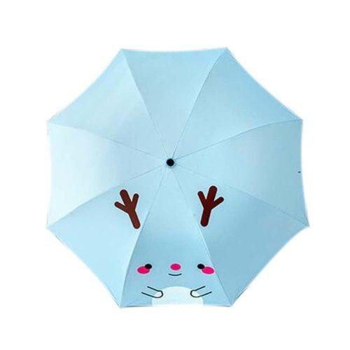 Sunscreen Sun And Rain Umbrella Anti-UV Lovely Folding Umbrella, Blue