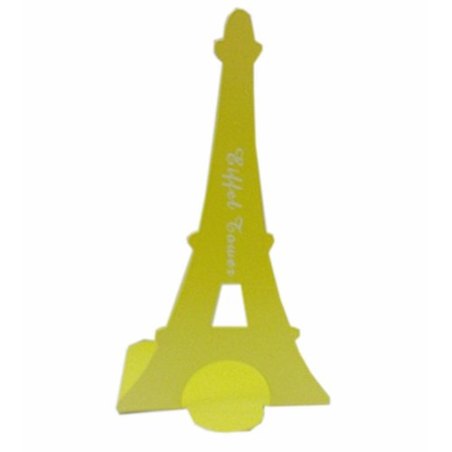 Set of Two Paris Tower & London Tower Iron Tower Nonskid Bookends Yellow