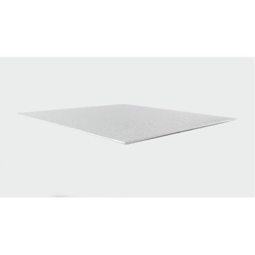"7"" Thin Silver Square Cake Board 3mm Thick"