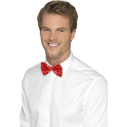Smiffy's Men's Sequin Bow Tie (red)