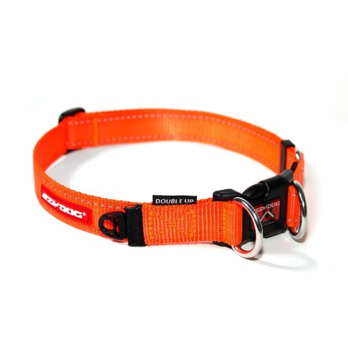 Ezydog Double Up Collar, Medium, Blaze Orange