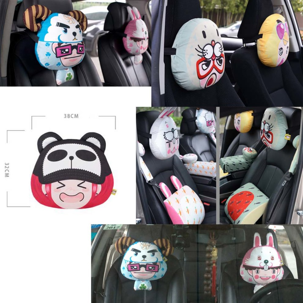 Cute Cartoon Car Neck pillowDog Bone