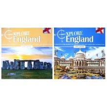 2019 Explore England Square Wall Calendar Historic Buildings Landmarks Scenic Landscapes Monuments
