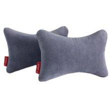 1Pair Car Headrest Pillow Head Support Pillow Seat Neck Rest Pillow-Grey