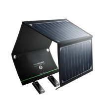 RAVPower 16W Solar Charger with Dual USB Port (Foldable, Portable) High Efficiency Outdoor Solar Panel for Smartphones Tablets and More
